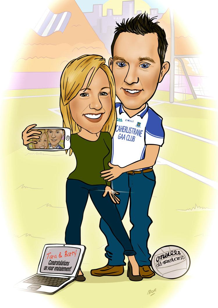 Cartoon Best Friend S Engagement Brendan O Rourke Art