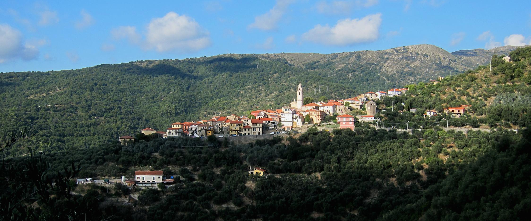 Villa Faraldi - middelhavet foran, Piemonte bak, og omringet av oliventrær