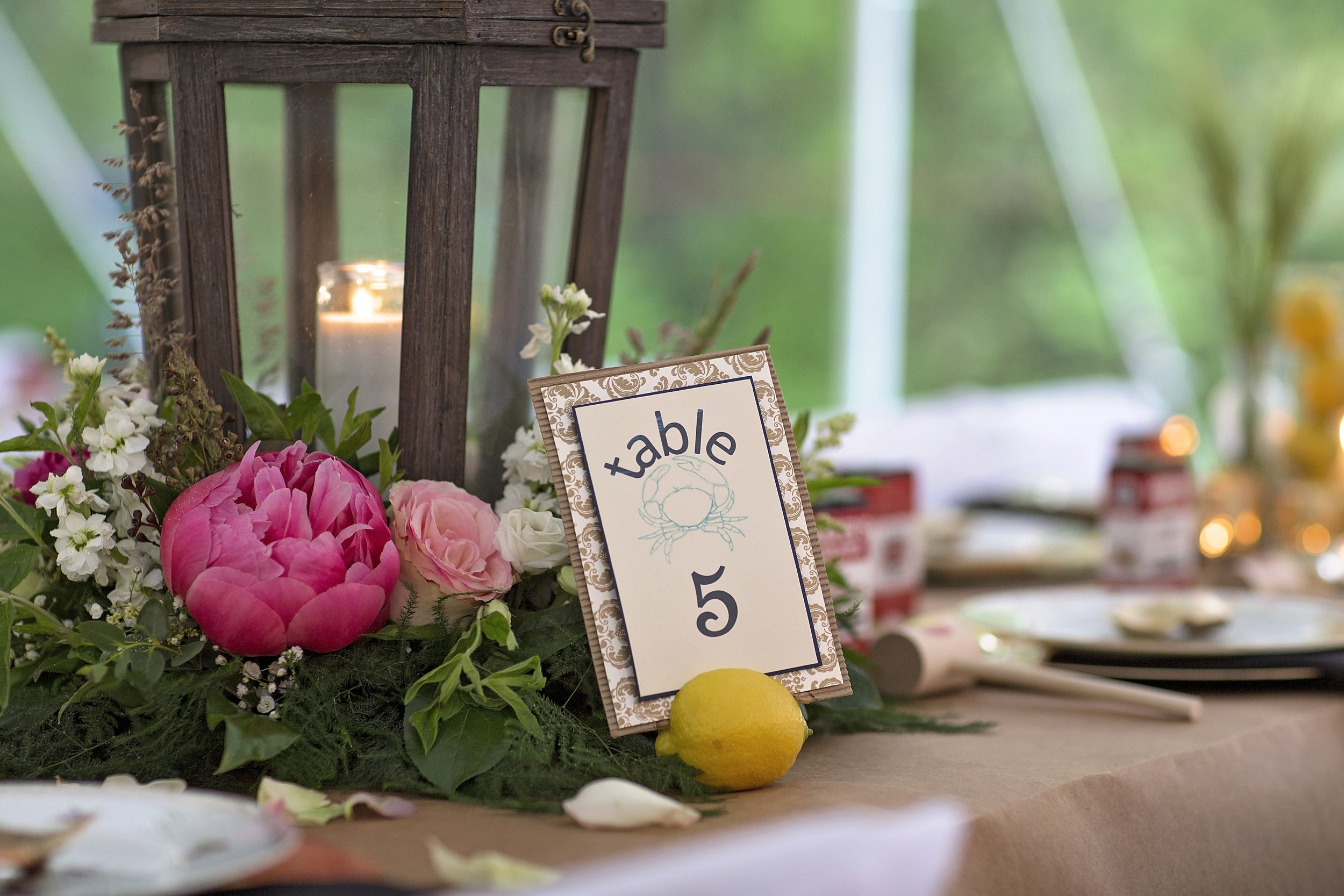 Table number & invitations by Dillon design co. Roxanne Lee