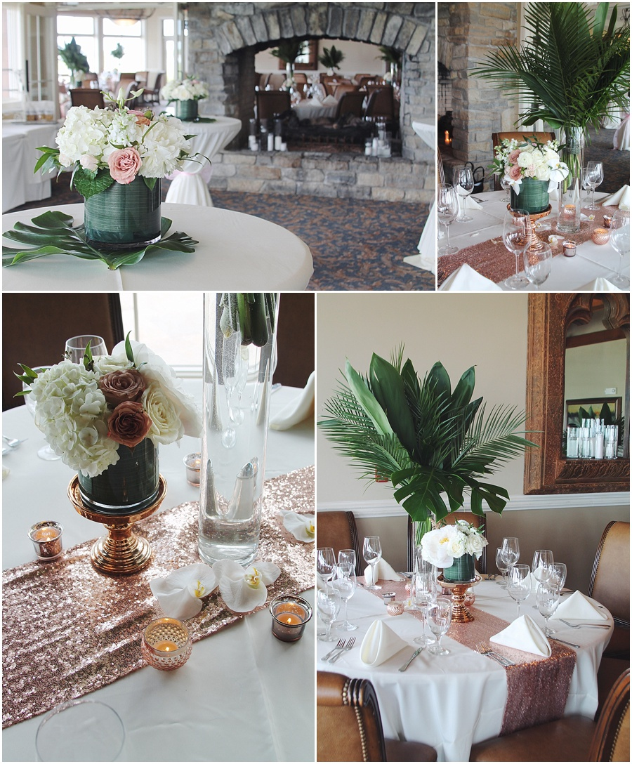 Beautiful high low centerpieces and an elegant touch. Floral arrangements by Little Miss Lovely.