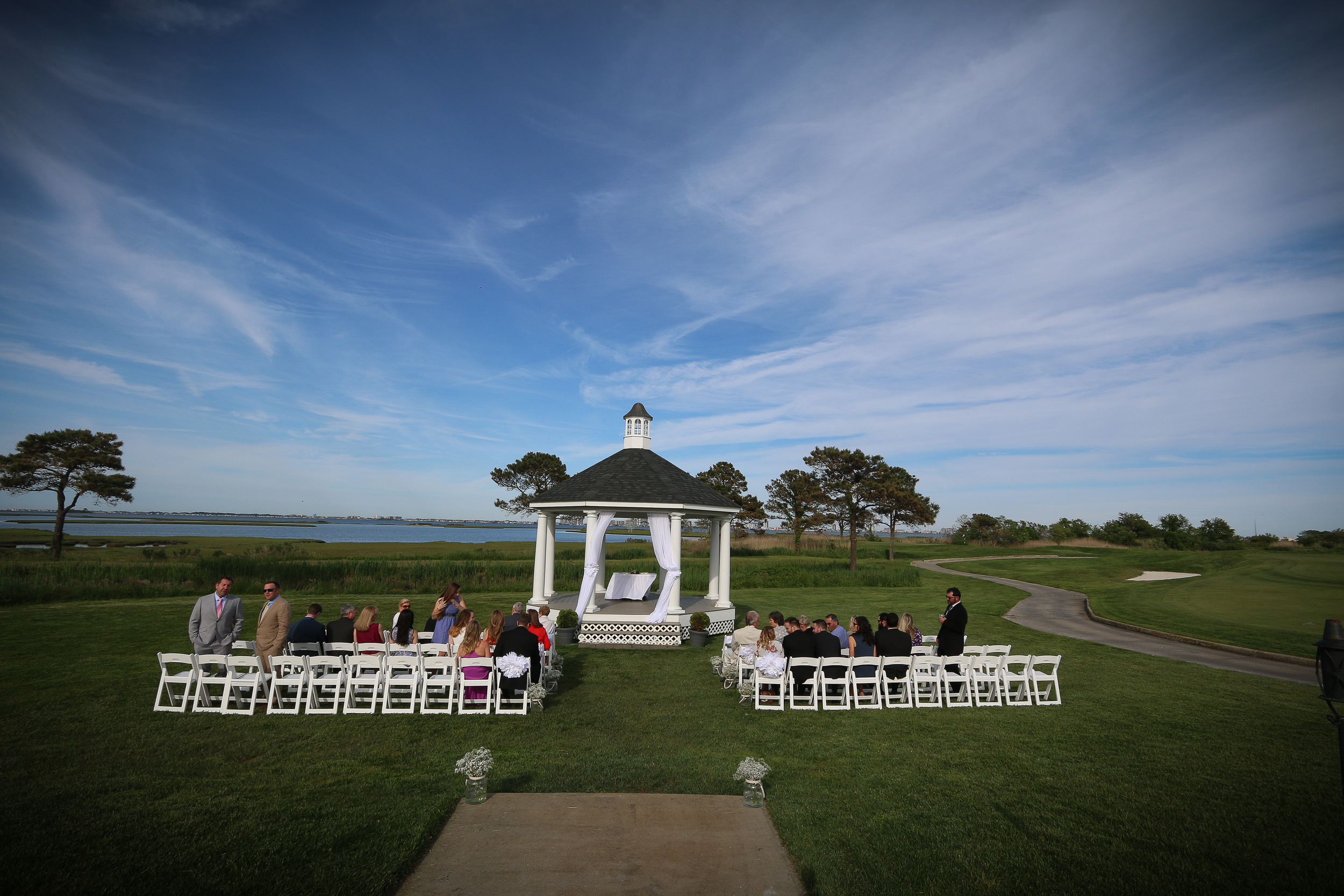 It was a beautiful evening for a wedding!