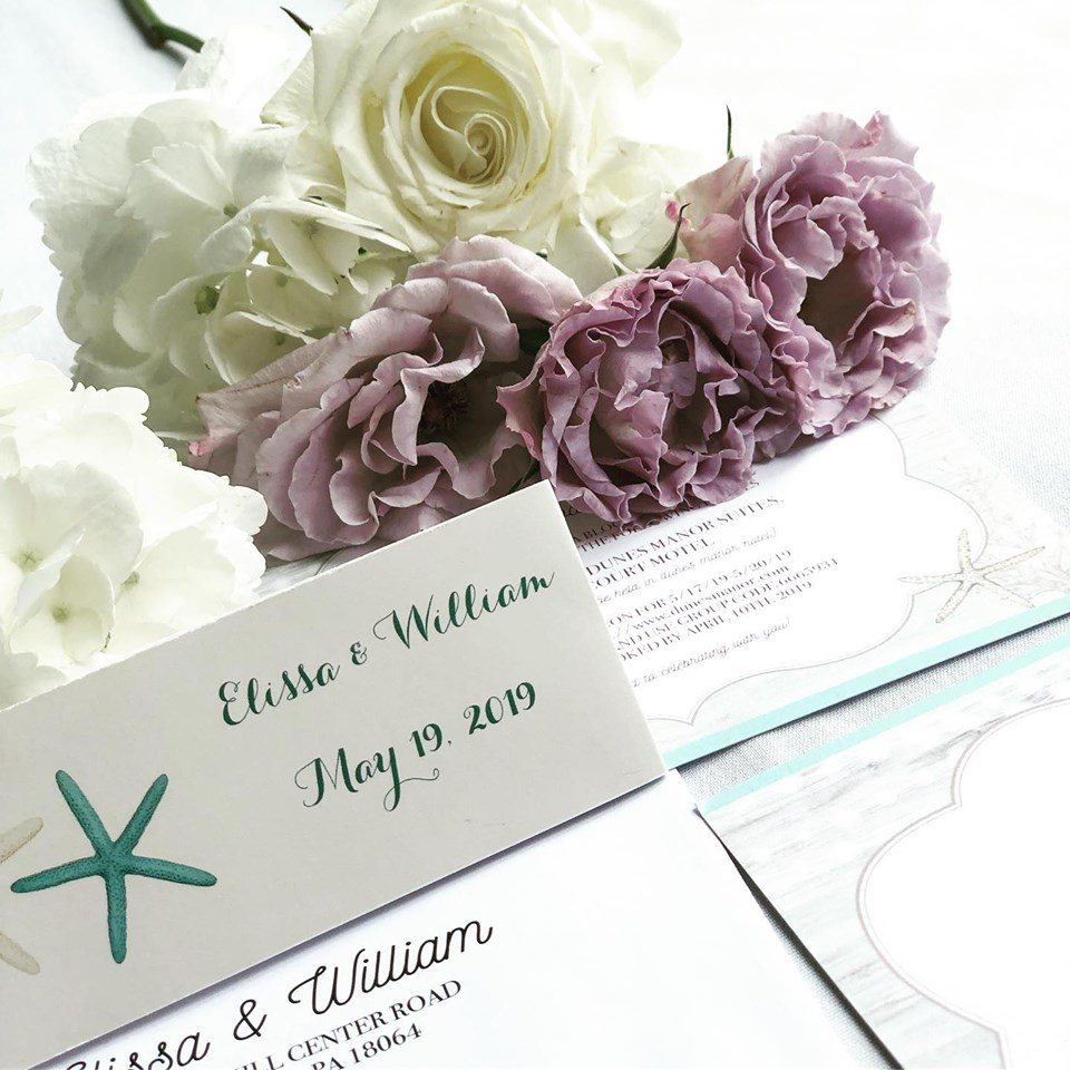 Your invitation and flowers make beautiful pictures. Dana Marie Photogrraphy