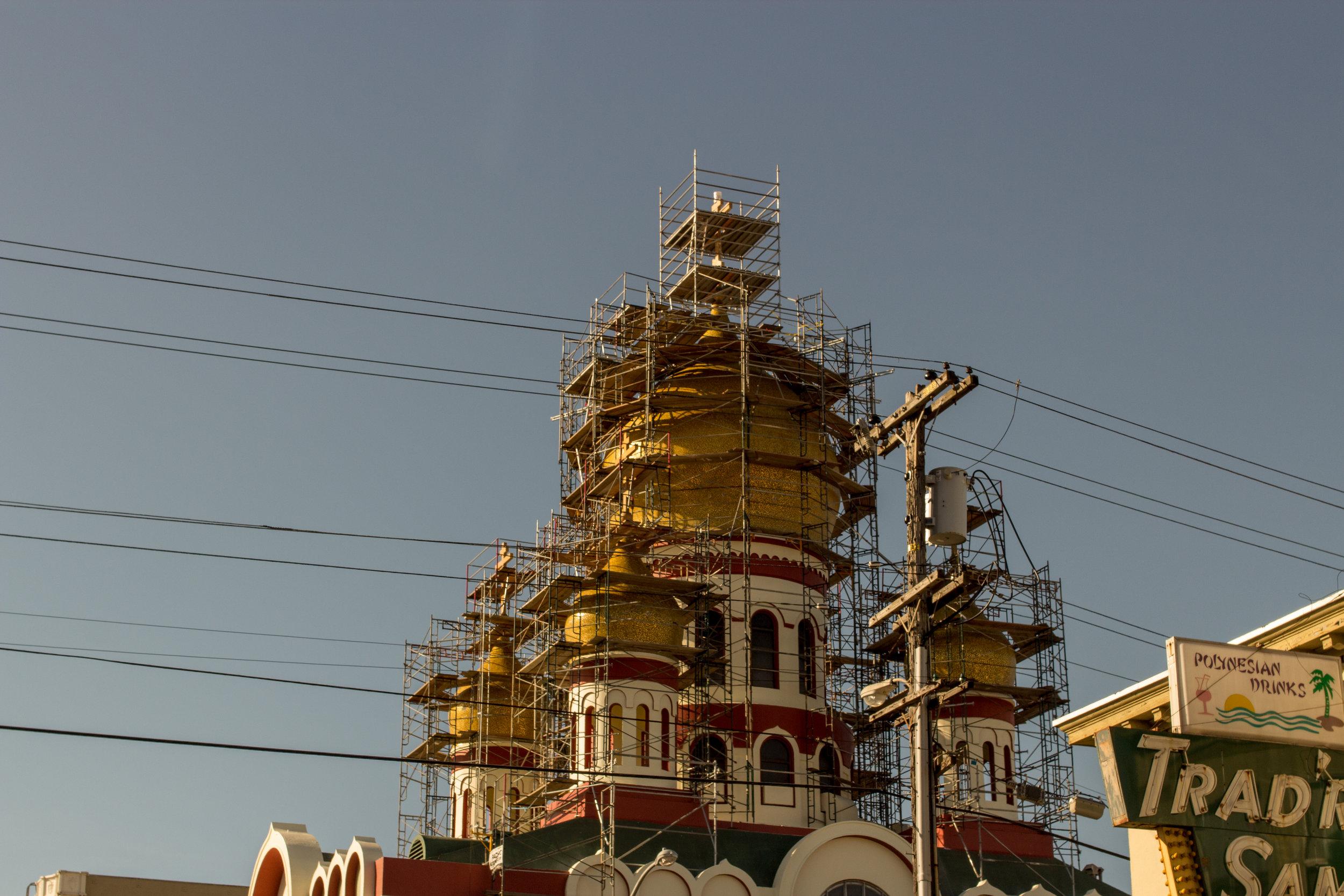 Orthodox Steeples under repair, 2016