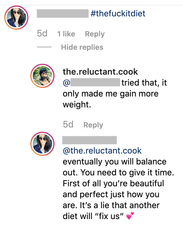 Everyone has an opinion on our bodies and health・The Reluctant Cook
