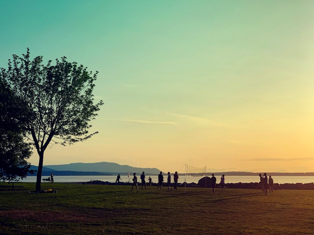 Lovely sunset at Boulevard Park, Bellingham, WA・The Reluctant Cook