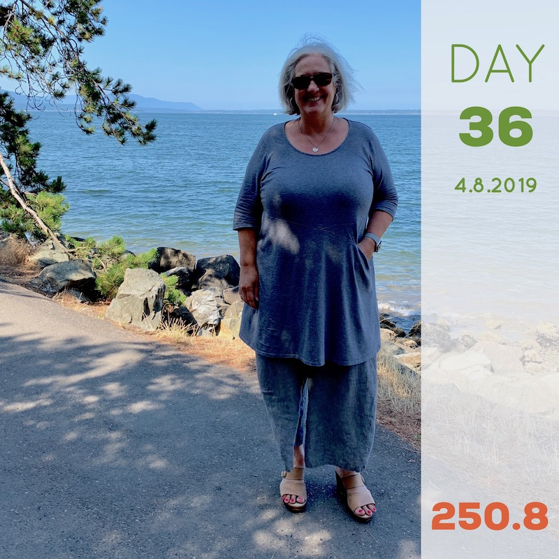 Day 36 Weight Loss Progress・The Reluctant Cook