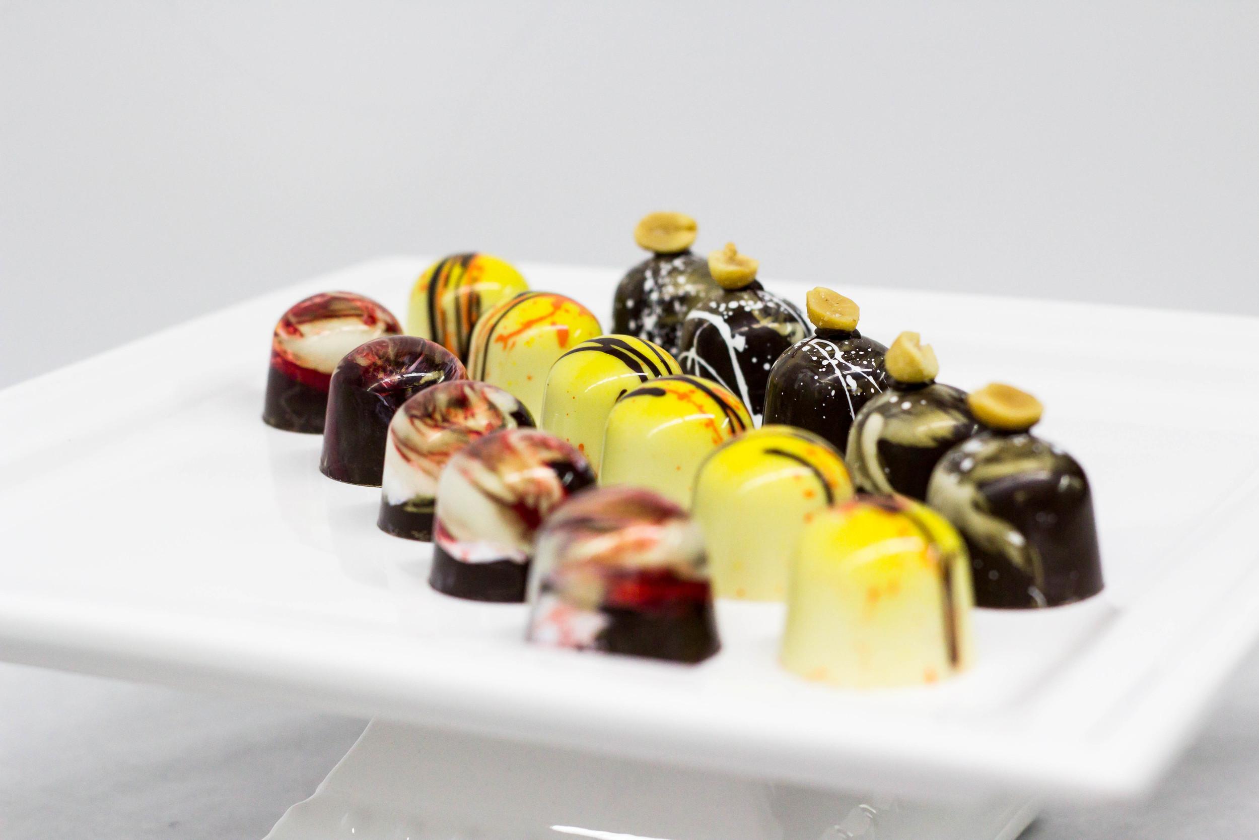 Chocolate Chocolate, Banana Curry and Peanut Butter Chocolates