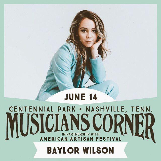 June 14th in beautiful Nasvhille, TN at centennial park with @muscornernash 💚😎☀️ ⠀ #show #livemusic #outdoor #centennialpark #musicianscorner