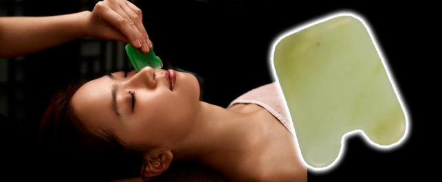Jade gua sha has many beneficial healing properties - an effective skin rejuvenation  treatment.