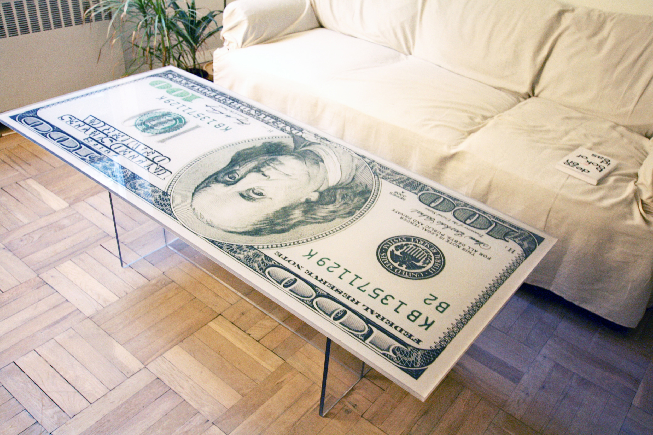 'The Benjamin' Custom-Designed Polycarbonate Coffee Table