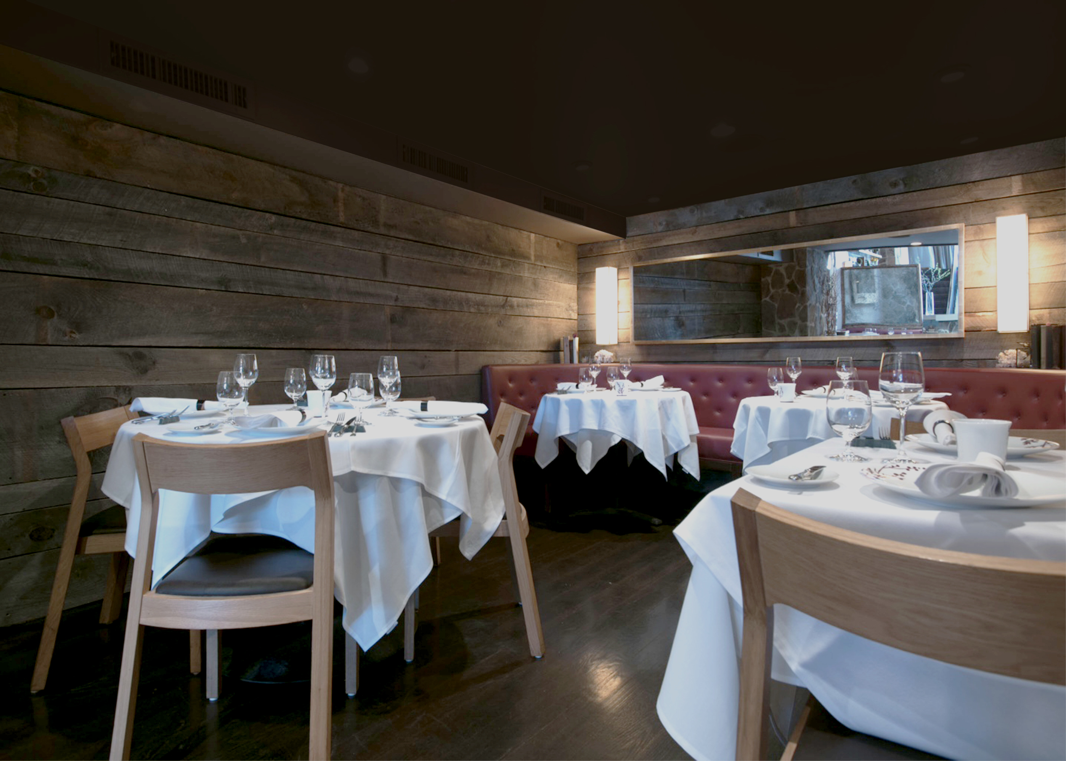 Downstairs Dining was Deliberately Dark and Cave-like, Creating an Intimate, Cosy Experience
