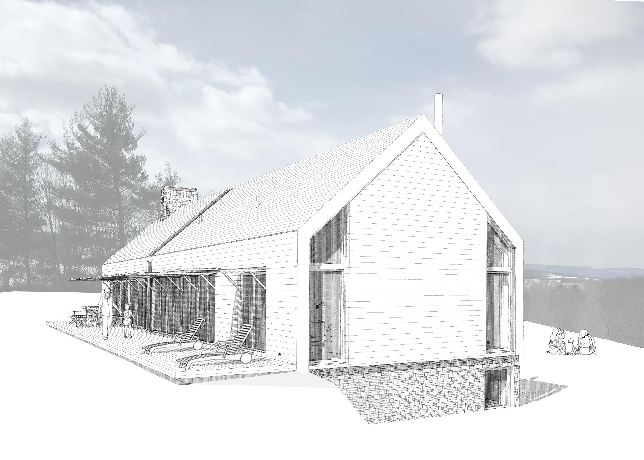 House Hidden Line Renderings