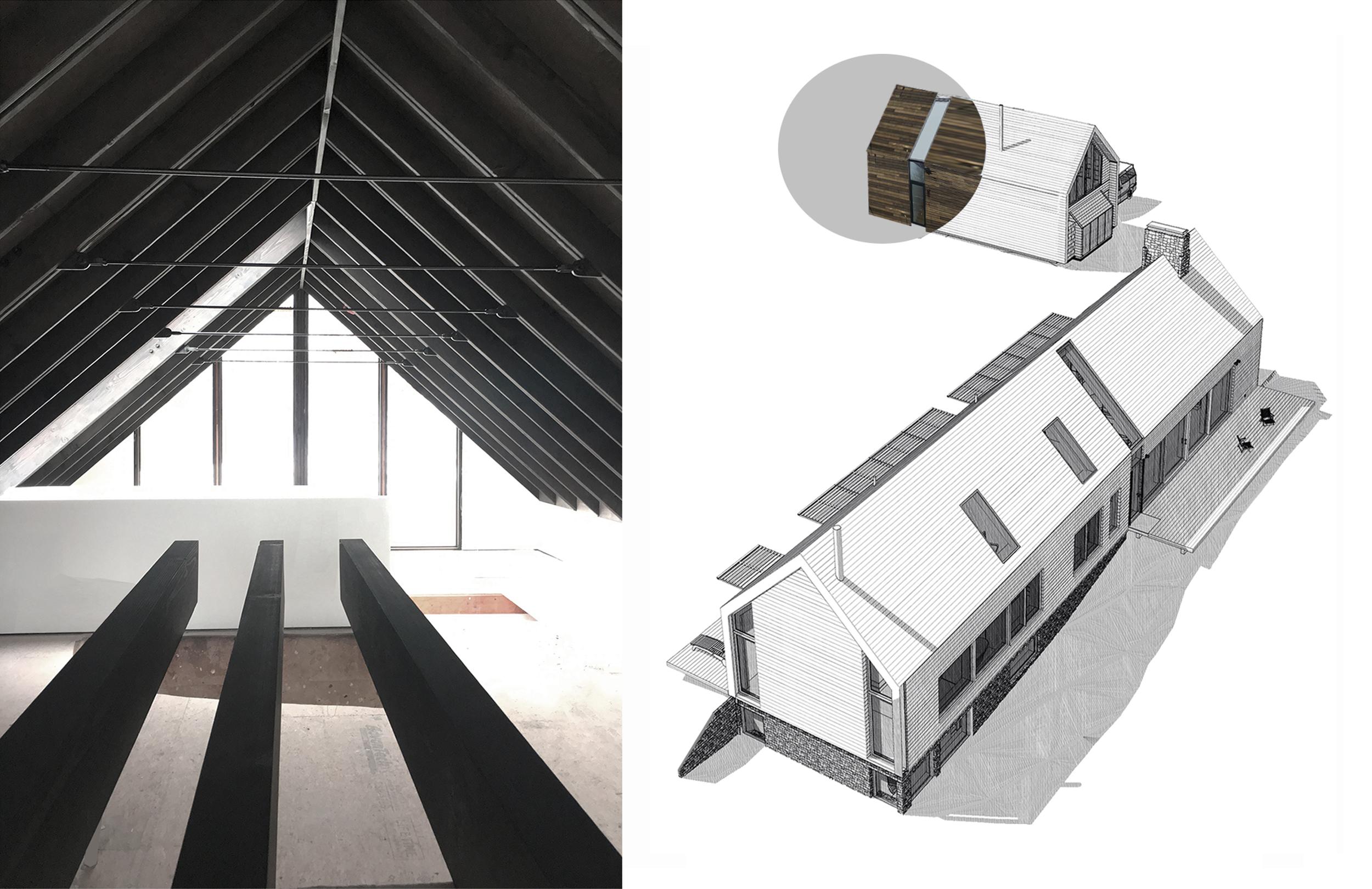 Carriage House Loft - Interior & Material Diagram