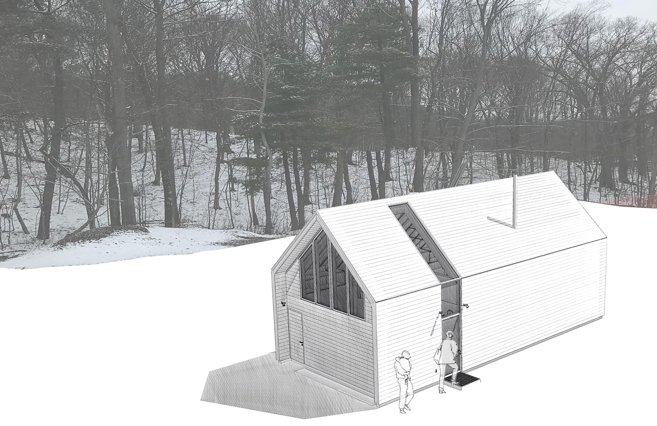 Carriage House Hidden Line Rendering