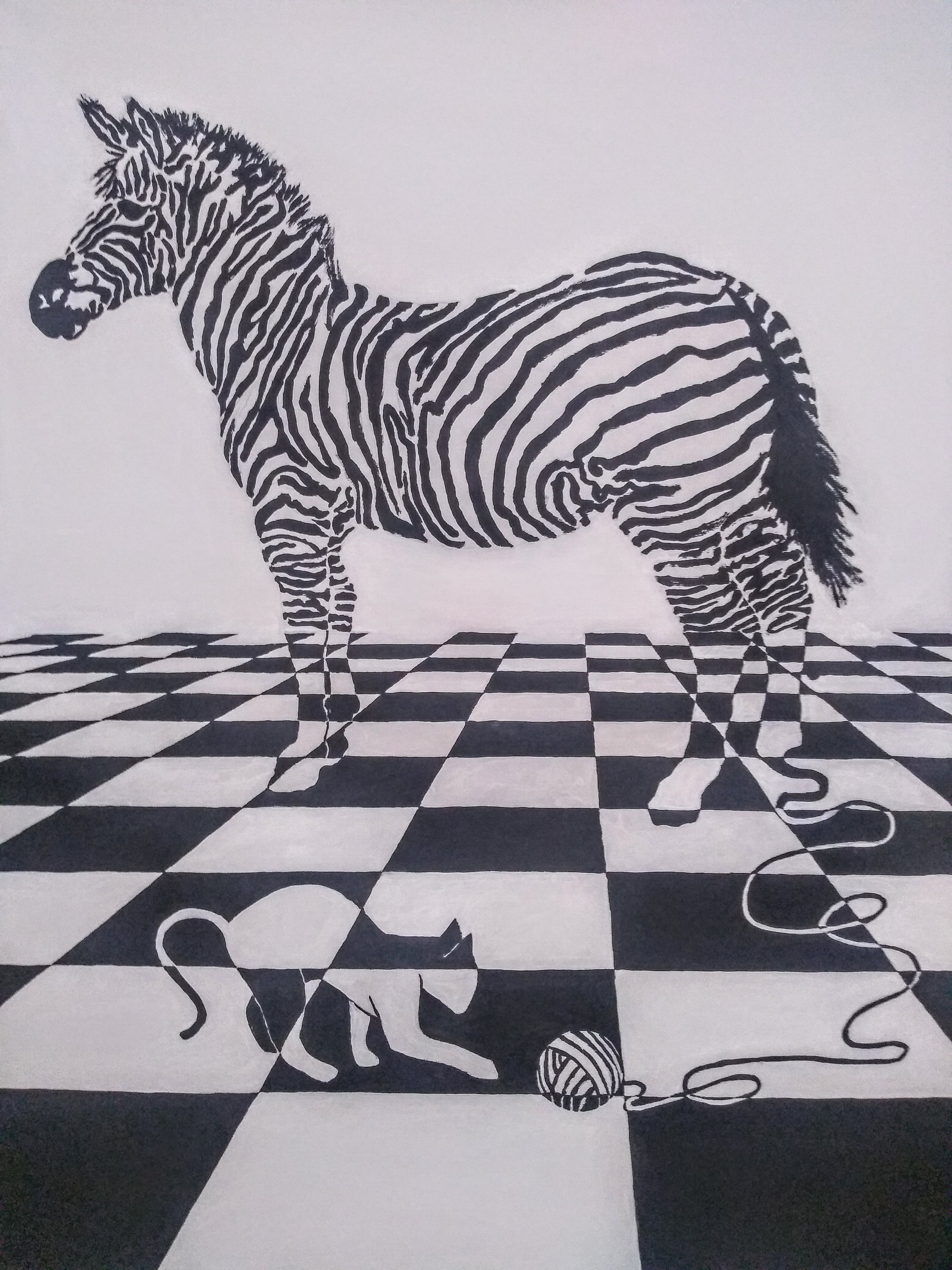 "From The ""ZEBRAPHIC"" Series  DANGEROUS GAMES  60X90 cm (23X30 inches)"