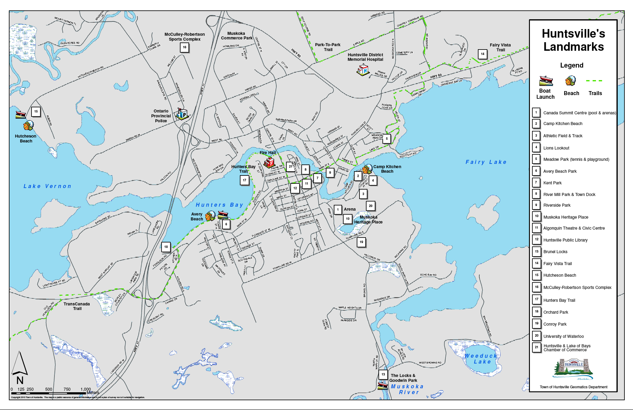 Map of Downtown