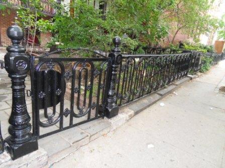 9- Cast iron gate and fence restored.JPG