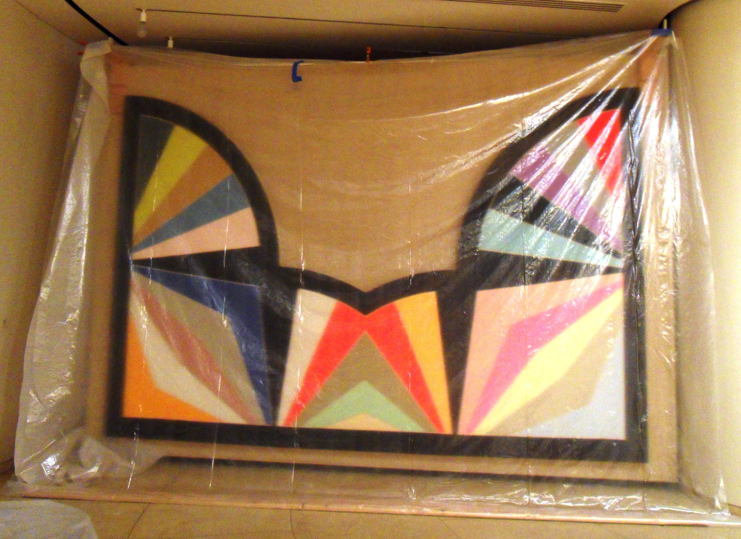 4-Protected Art Work in the Gallery (Frank Stella).JPG