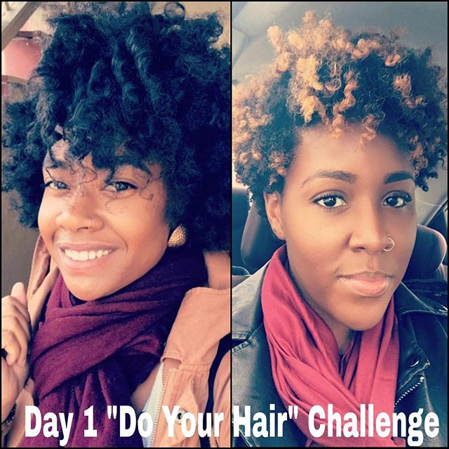 Day 1 of #doyourhairchallenge! 💁🏾💁🏾👸🏾👸🏾💜 tag 4g4c to be featured! #4g4c #naturalhair #naturalhairdaily #naturalhaircommunity