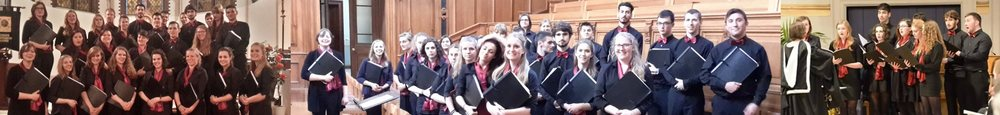 Leicester University Chamber Choir during rehearsal