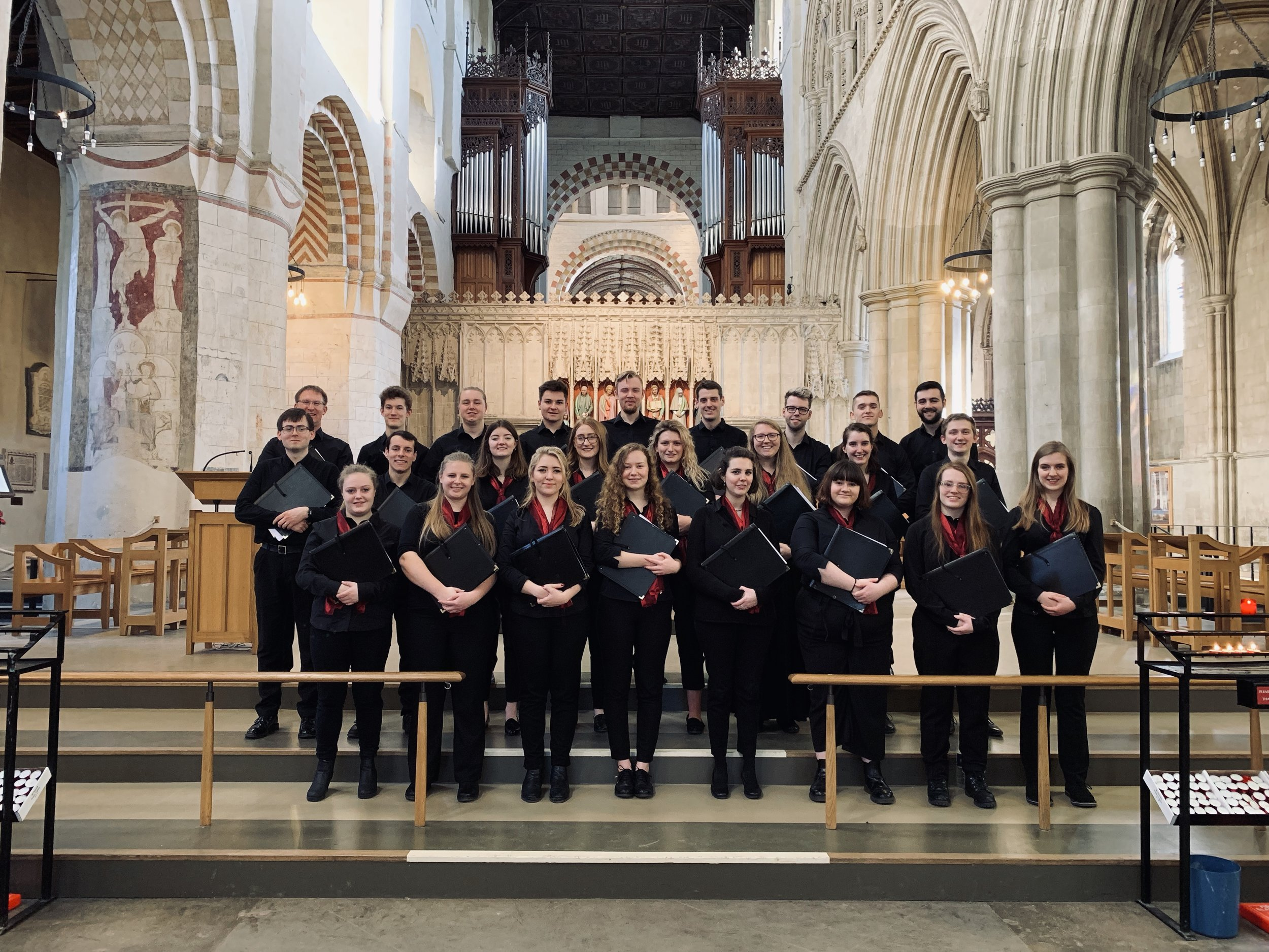 Singing at St Alban's Cathedral
