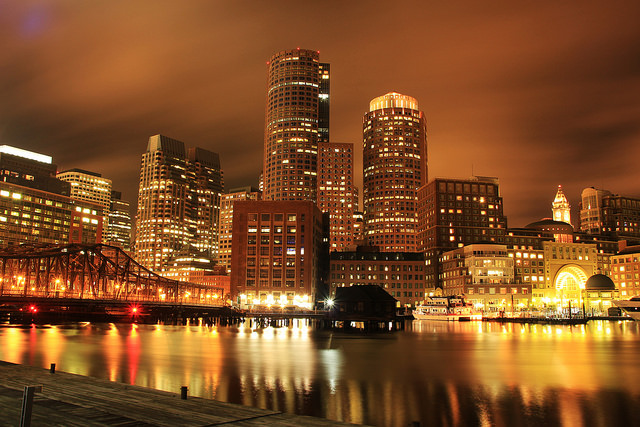 Boston at night. Photo by Margot Morte