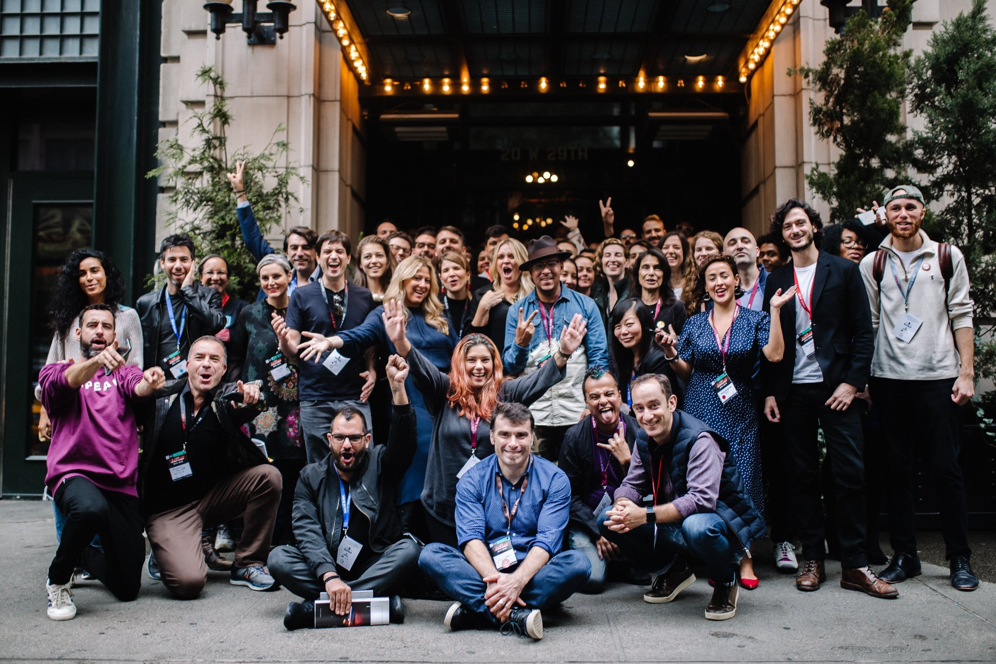 Photo taken outside of the Ace Hotel on September 28, 2018, during NightCamp: A one-day event to launch the Creative Footprint report for the city, and rethink the way NYC plans and uses its spaces after dark.