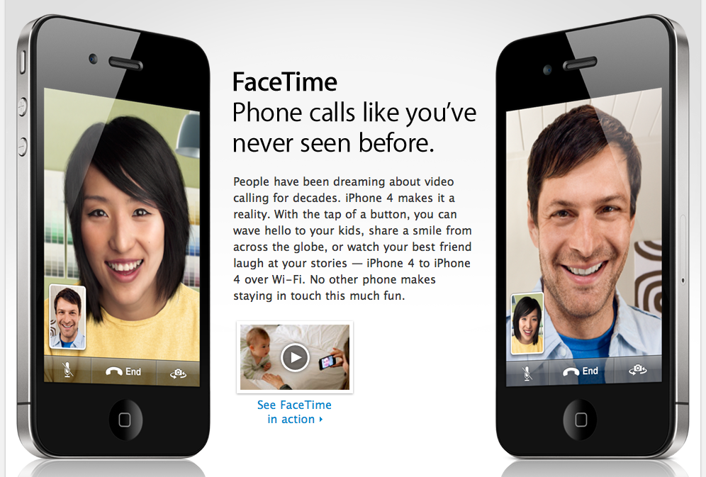 FaceTime: Phone calls like you've never seen before