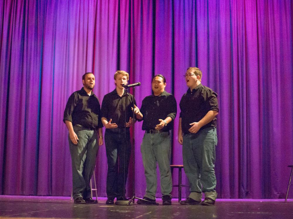 L to R - Stephen Secules (baritone), Samuel Irvin (bass), Sang Park (Lead), Arthur Sauls (tenor)