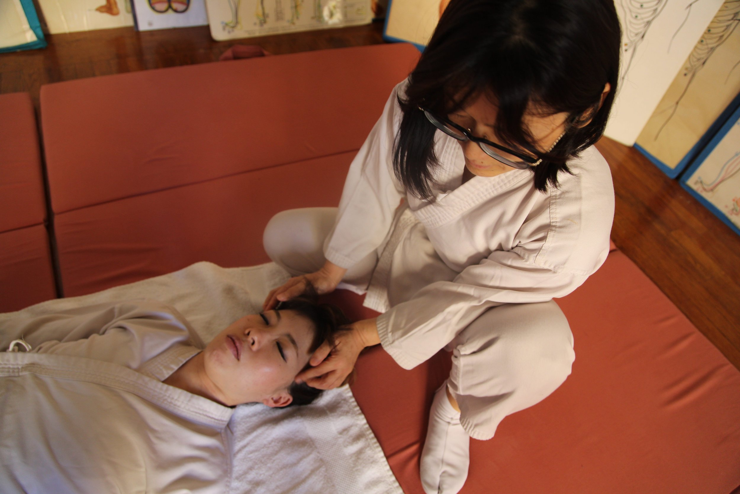 Receive Shiatsu to maintain health and WELL BEING.