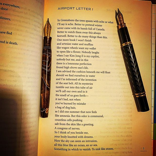 It's good luck to read a poem by Paul Guest just before AWP, this poem is from his book, My Index of Slightly Horrifying Knowledge. #poetryisnotdead #awp2019 @paulmguest #poemoftheday #poetry #poetrycommunity #poet #fountainpengeeks #cigaraficionado #airport #warrenwilsonmfa #poetryischurch #spokenwordpoetry #thewritinglife #literature #buythisbook #journaling #creativewriting #poetryisart #poetrycommunity #lovetowritepoems #lovetowrite #charlessimic #americanpoet #notebook #iowawritersworkshop