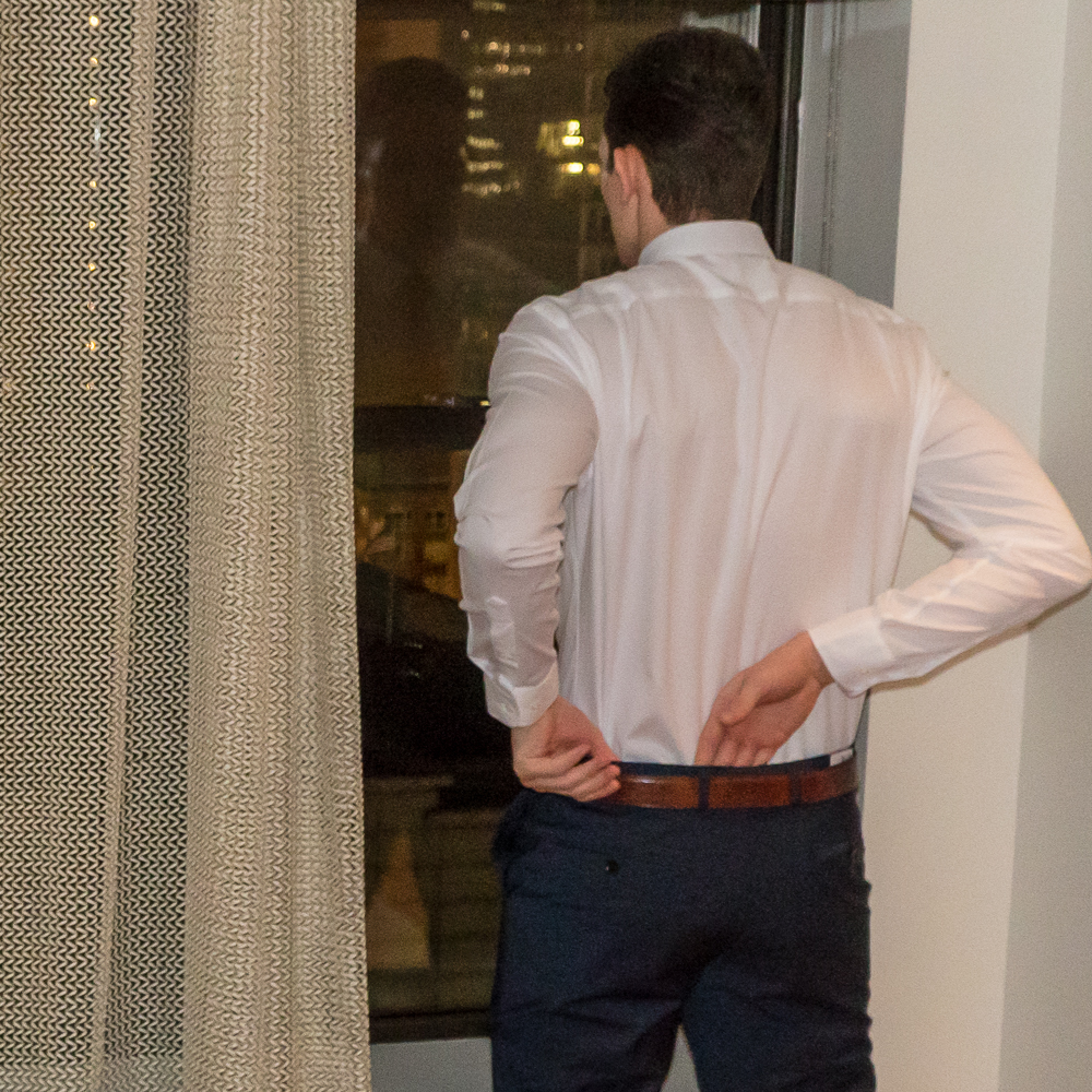 We don't think you should spend all day taming a shirt tail. -