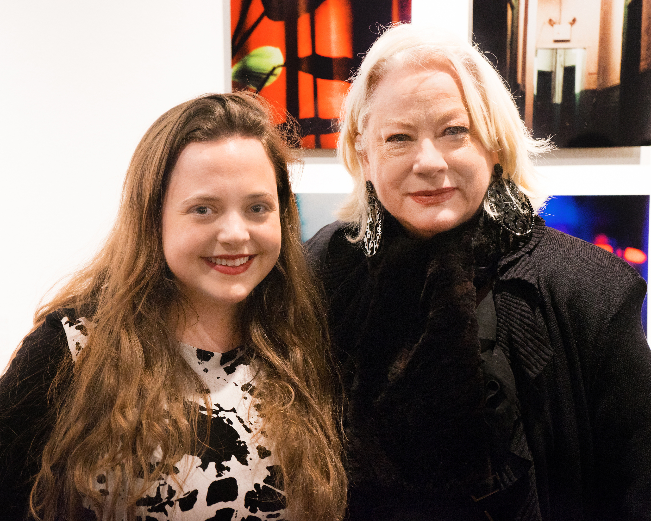 With my mentor, Ellen Carey, at the exhibition opening.