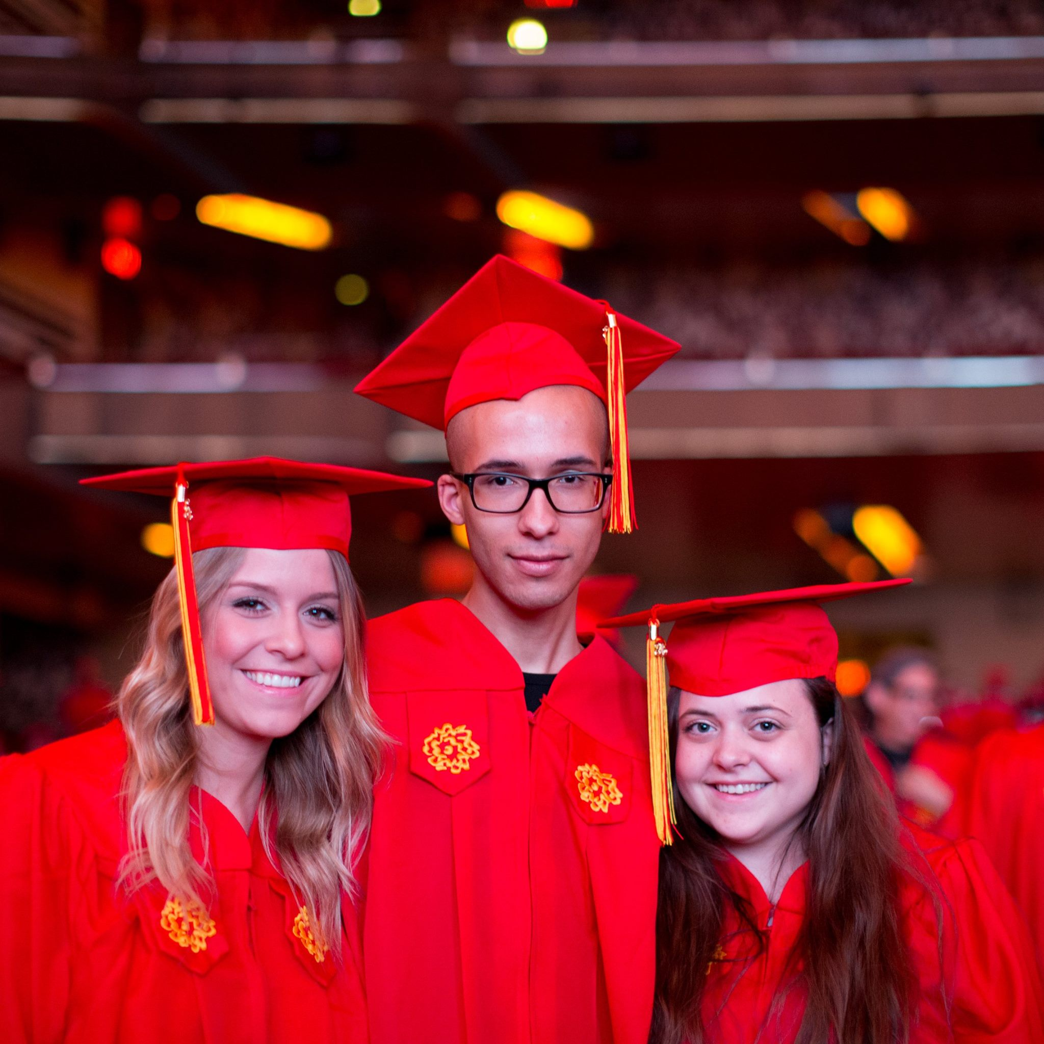 Lexy Henderson, Brian Rudolph, and I at our commencement ceremony.
