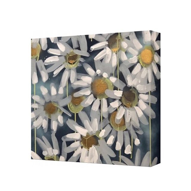 """These Daisy's would make a wonderful addition to any book case or gallery wall 12x12"""" #art #painting #popart #flowers #artforsale #sale #sold #interiordesign #homedecor #inspo #homeinspo #treatyoself #megancoonellyart"""