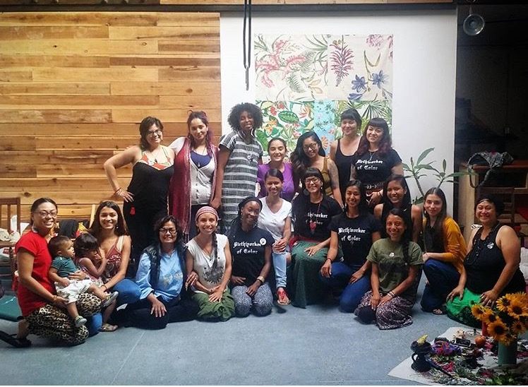The first cohort of Long Beach Doulas of Color Training, doing the courageous work of healing many generations forward and backward <3