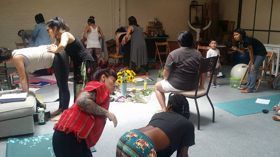 Day 2: Pre-natal care: yoga, massage, abortion companionship Photo by Mama Maiz