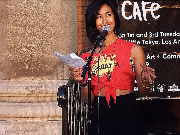 Hosting Tuesday Night Cafe (May 2016) at Union Center for the Arts | Photo credit: Mike Murase