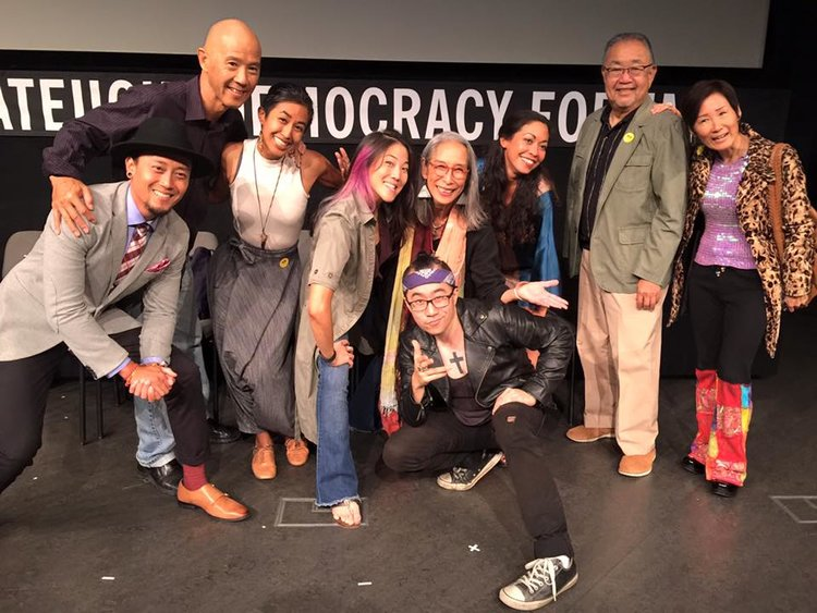 Get UP! Stand UP! Speak UP!  An evening of Art and Stories to benefit the  Serve the People Institute  at the Tateuchi Democracy Forum, November 2015 hosted by Senator Warren Furutani