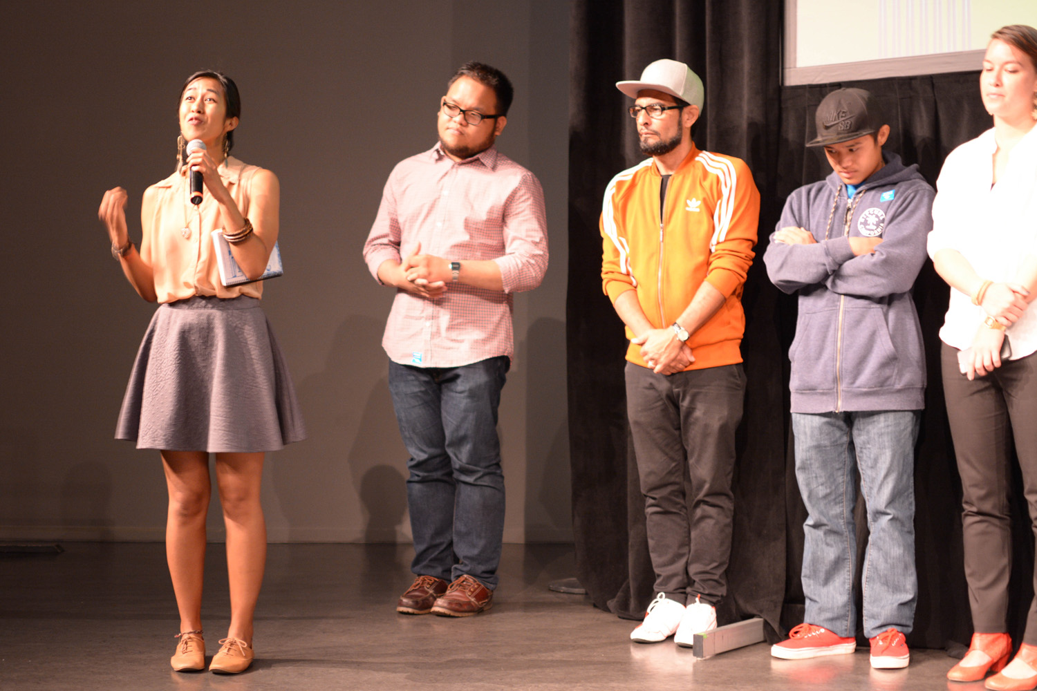 From 2015 - 2017, I served as the annual curator and host of  Los Angeles Asian Pacific Film Festival's Youth Media Program: From Vision to Reel , where I aim to select films that highlight underrepresented stories captured by Asian American and Pacific Islander youth and recruited community organizations to act as co-sponsors.