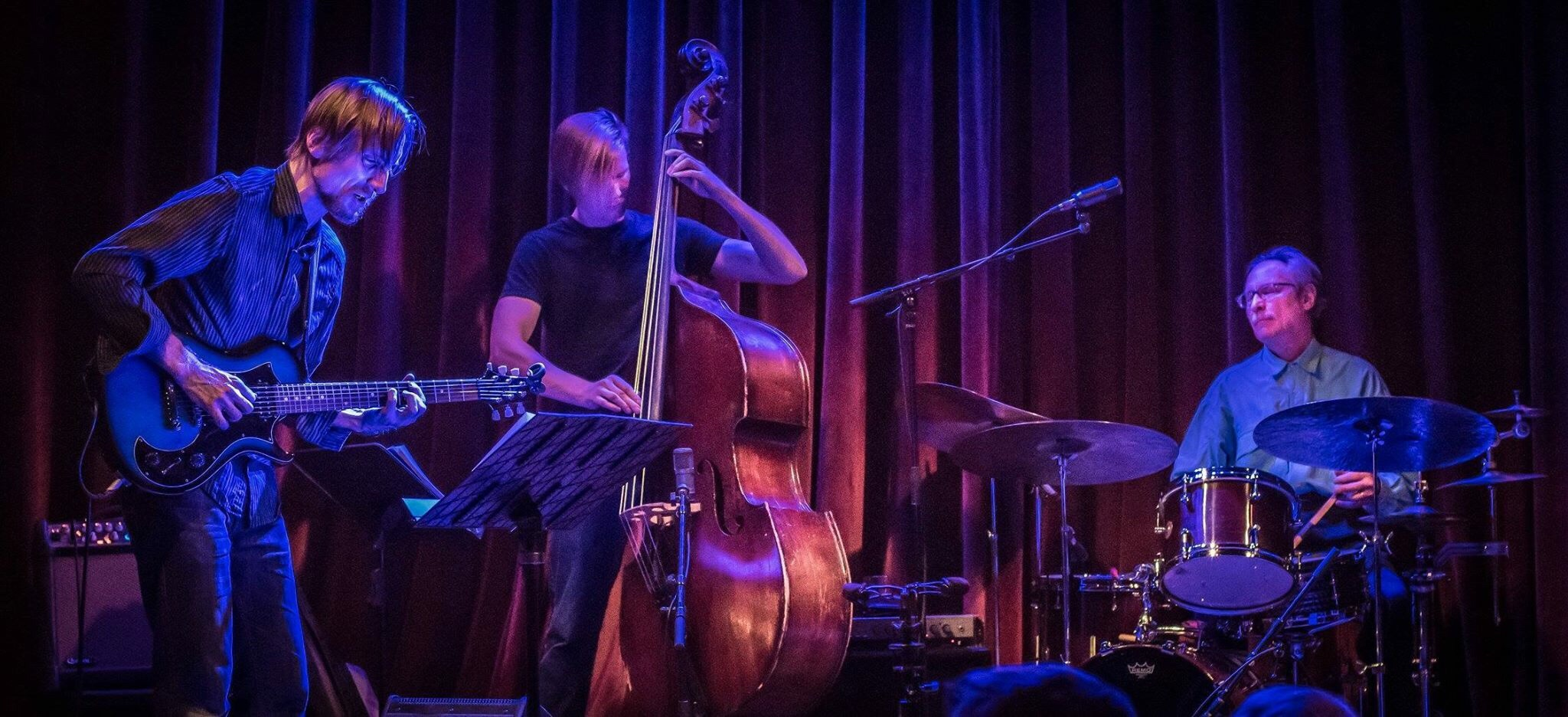 Park Evans' Firebell  Firebell is Park Evans (guitar), Graydon Peterson (bass), and Jay Epstein (drums). Evans is a versatile guitarist who draws heavily on rock and world music influences and has been a mainstay on the Twin Cities improvised music scene for a number of years. He and Peterson, who leads his own quartet as well, handle most of the writing in this captivating and ethereal trio. Epstein, who has an extensive jazz career having played with the likes of Bill Carrothers, Dean Magraw, and Bill Stewart, completes the group with his masterful drumming and cymbal work, for which he has garnered critical acclaim throughout his career.