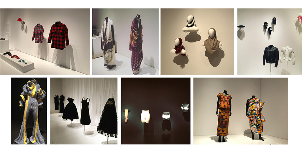 Installation photos from  Items: Is Fashion Modern?  at the Museum of Modern Art