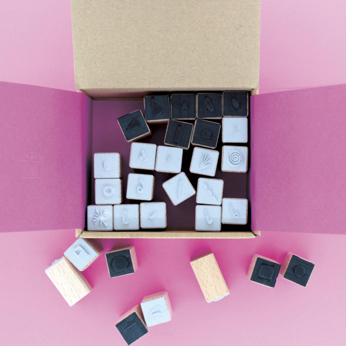 DATA SELFIES  - Designer Stamp Set for Corraini Edizioni