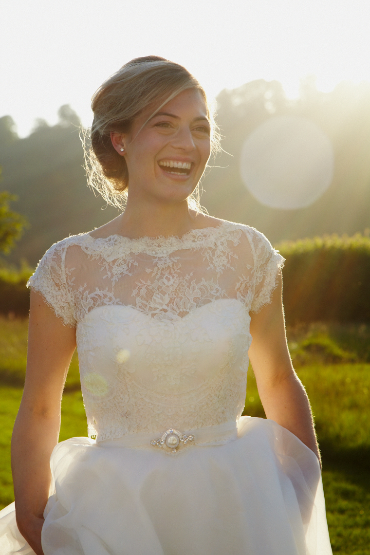 Bride wears Aurora belt.