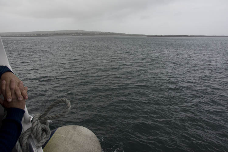 The 1 hour ferry ride to Inis Mór was bumpy, but uneventful after our long car ride