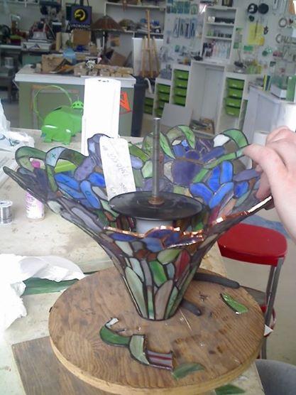 Lamp Repair - courtesy Alexander Glass Studio