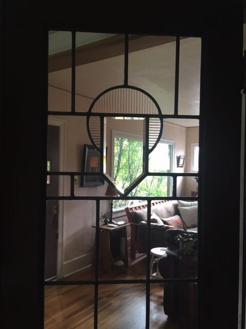 They had a leaded glass window in the house, and they wanted to mimic the design with the new windows.