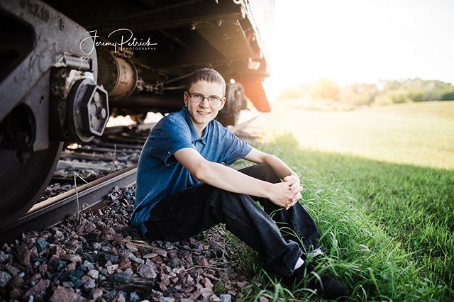 Eric plans to work on the railroad when he's all grown up:) This photo is rather fitting!