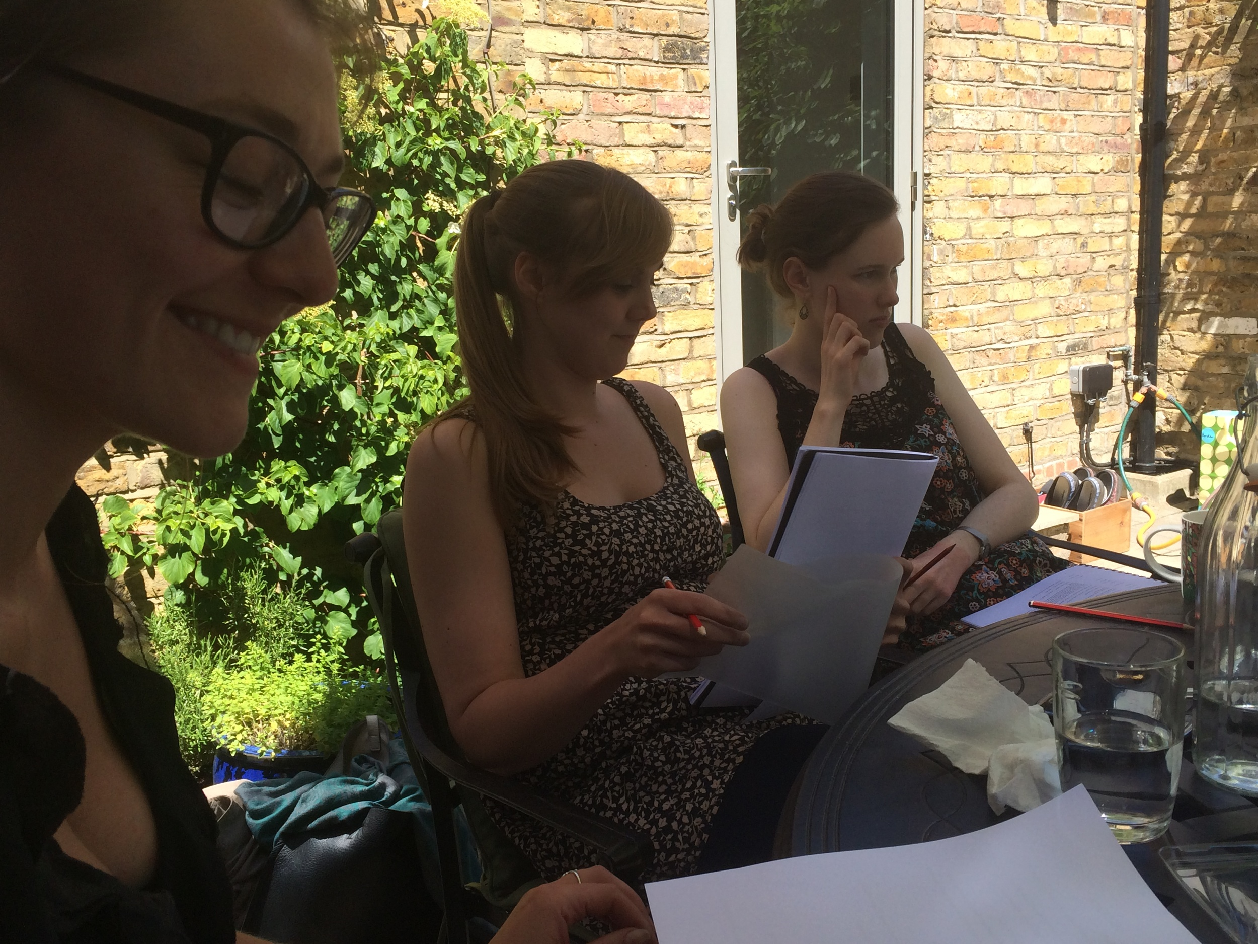 Actor's Gemma Wilson (Left), Ailis Duff (Right) and our Director; Penny Peters (Centre)