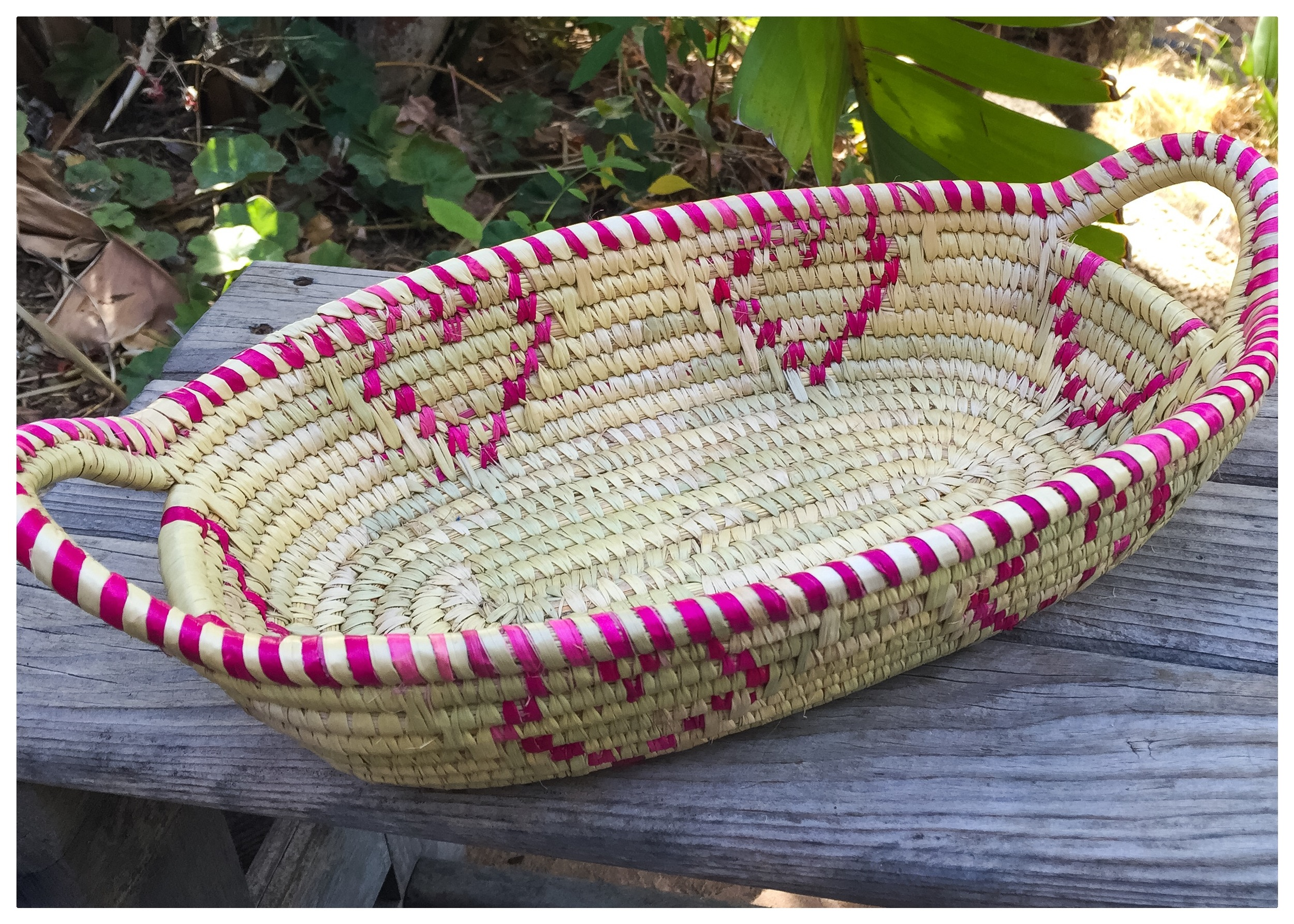Handmade by women in Tanzania, this basket is as functional as it is beautiful. Use it as a serving basket on the dining table or to hold your stationery collection, you'll be reminded of the women who were given meaningful employment when this basket was purchased!